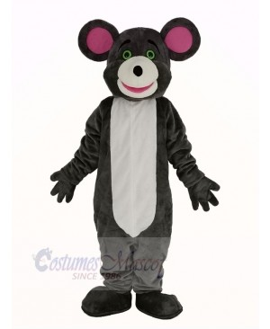 Gray Mouse Pink Ears Mascot Costume Animal