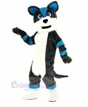 Blue and Gray Husky Dog Fursuit Mascot Costume Animal