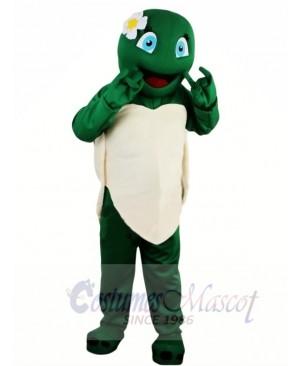 Hot Sale Girl Green Tortoise Turtle Mascot Costume Adult School Performance