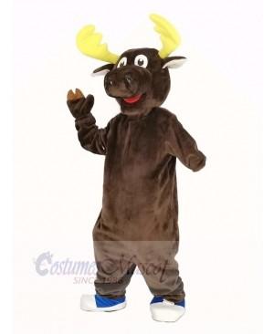 Funny Brown Moose Mascot Costume Animal