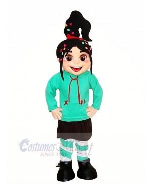 Cute Girl Vanellope Mascot Costumes Cartoon