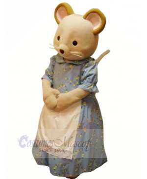 Virtuous Mouse in Dress Mascot Costumes Cartoon
