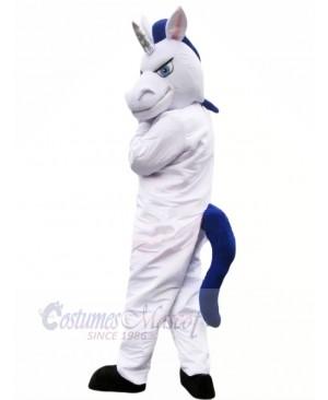 White Muscle Horse Mascot Costumes Cartoon