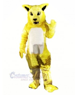 Yellow Fierce Wildcat Mascot Costumes Cartoon