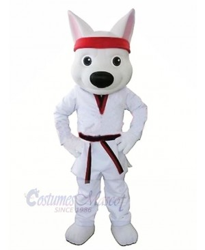 Sport White Wolf Mascot Costumes Cartoon