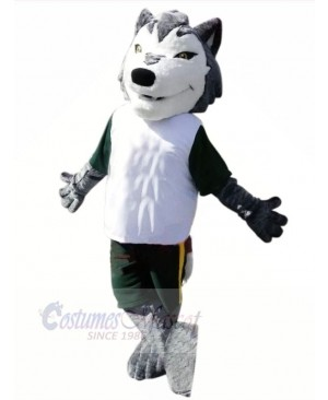 Sport Wolf with Small Eyes Mascot Costumes Cartoon