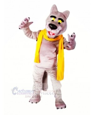 Fashion Wolf with Scarf Mascot Costumes Cartoon