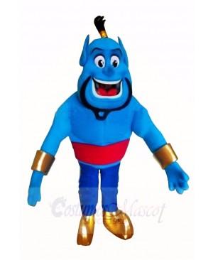 Blue Elf Genie Mascot Costume Cartoon