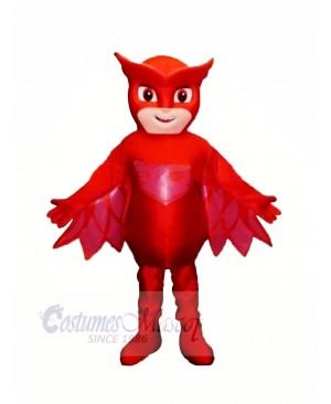 Heroe Boy with Red Masks Mascot Costume Cartoon