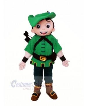 Heroe Robin with Green Coat Mascot Costume