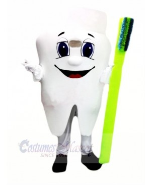 Healthy Tooth Mascot Costume Cartoon