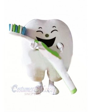 Smiling Tooth Mascot Costume Cartoon