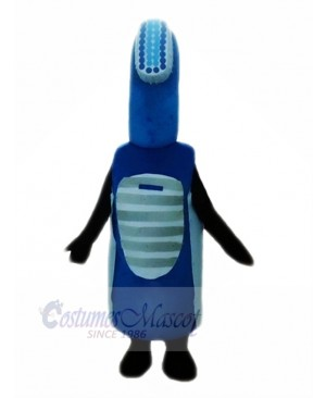 Blue Electric Toothbrush Mascot Costume Cartoon
