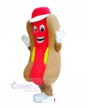 Delicious Fast Food Hot Dog Mascot Costume Cartoon