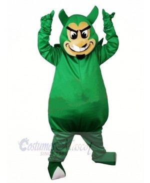 Ugly Green Devil Mascot Costume Cartoon