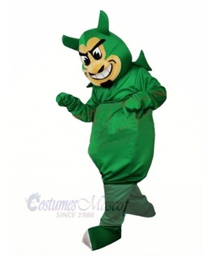 Ugly Green Devil Mascot Costume Cartoon