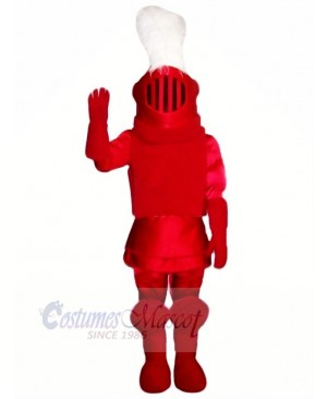 Fashion Red Knight Mascot Costume People