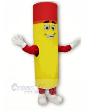 Yellow and Red Lipstick Mascot Costume Cartoon