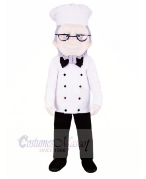 Chef with Glasses Mascot Costume People