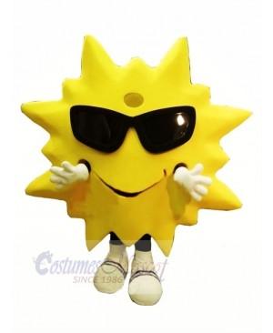 Cool Smiling Sun Mascot Costume Cartoon