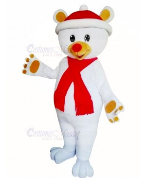 Lovely Christmas Bear Mascot Costume Cartoon