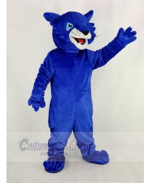 Blue Bobcats Mascot Costume Animal
