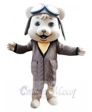 Pilot Mouse mascot costume