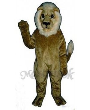 Cute Blonde Lion Mascot Costume