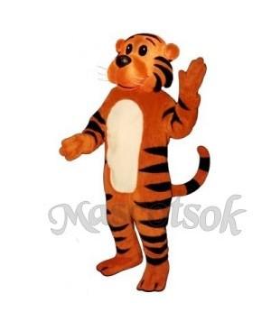 Cute Sunny Tiger Mascot Costume