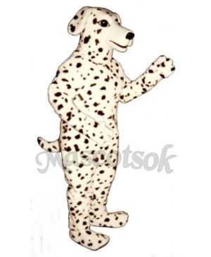 Cute Realistic Dalmatian Dog Mascot Costume