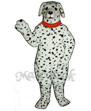 Cute Realistic Dalmatian Dog with Collar Mascot Costume