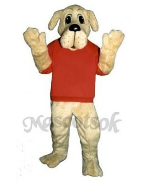 Cute Rah Rah Dog with Shirt Mascot Costume