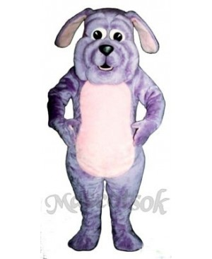 Cute Purple Pup Dog Mascot Costume