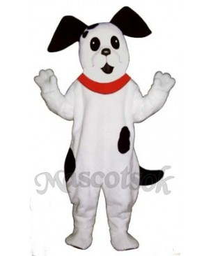 Cute Spot Dog with Collar Mascot Costume