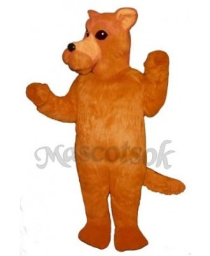 Cute Orange Dog Mascot Costume