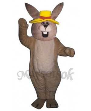 Easter Jolly Bunny Rabbit with Hat Mascot Costume