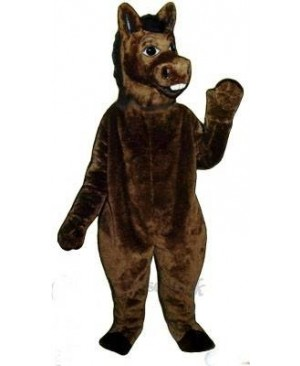Brown Donkey Mascot Costume