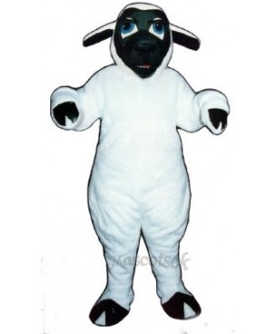 Black Face Sheep Mascot Costume