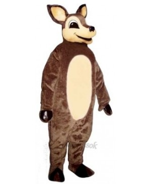 Cute Dingie Deer Mascot Costume