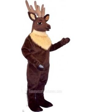 Cute Regal Elk Deer Mascot Costume