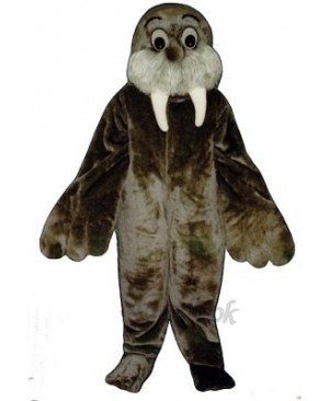 Cute Wally Walrus Mascot Costume