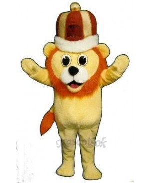 Cute Madcap Lion Mascot Costume