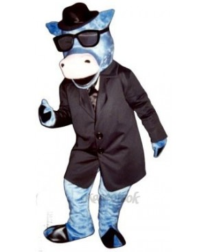 Blues Moo Cattle Mascot Costume