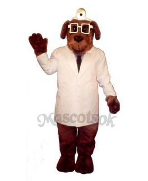 Cute Dr. Mutt Dog Mascot Costume