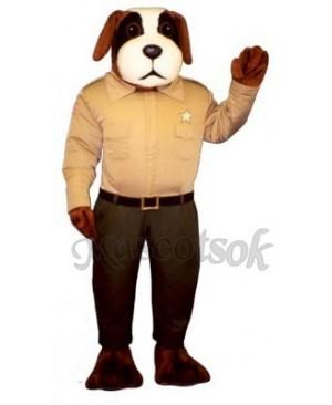 Cute Sheriff Snoop Dog Mascot Costume