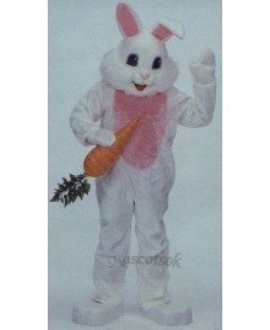 Easter White Bunny Mascot Costume