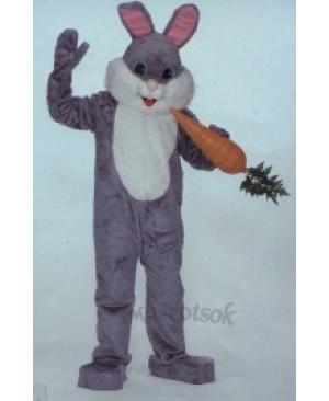 Easter Deluxe Grey Bunny Mascot Costume