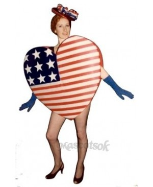 Cute Heart of America Mascot Costume