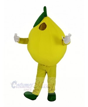 Yellow Lemon Mascot Costume