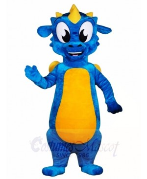 Blue Dragon with Yellow Wings Mascot Costumes